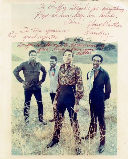 Smokey Robinson: autograph for Duffy Jennings
